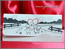 Rozkládací svatební oznámení s postavičkami vzor 3358