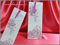 Vysouvací svatební oznámení se spoustou růžových motýlků vzor 3364