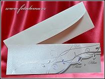 Otevírací svatební oznámení se stříbrnými florálními ornamenty vzor 3365