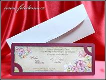 Podlouhlé svatební oznámení z matného bílého polokartonu vzor 3367