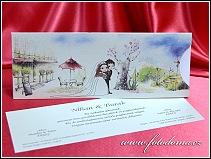 Vysouvací svatební oznámení s pohádkovou kvetoucí zahradou vzor 3369