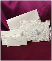 Svatební oznámení vzor 3585 s tvarovaným okrajem