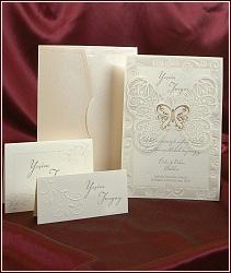 Luxusní svatební oznámení 3597 motýl