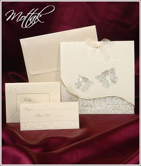 Svatební oznámení 3602 s motýlky