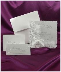Svatební oznámení vzor 3605 s průhlednou kapsou