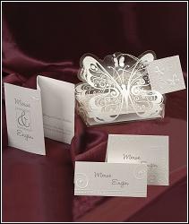 Svatební oznámení vzor 3608 motýl