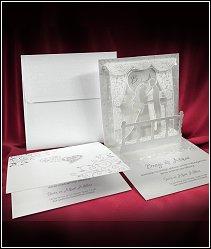 3D svatební oznámení vzor 3610s postavičkami