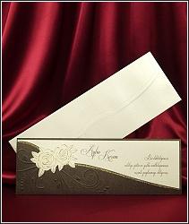Elegantní dlouhé svatební oznámení vzor 3645
