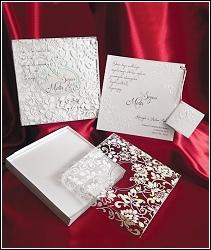 Luxusní svatební oznámení 3655 v krabičce s průhledným víkem