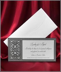 Stříbřité svatební oznámení 3659