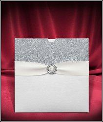 Svatební oznámení vzor 3665 se stříbrnými glitry