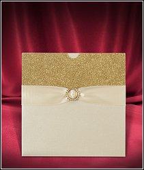Svatební oznámení vzor 3666 se zlatými třpytivými glitry
