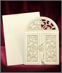 Zcela originální svatební oznámení vzor 3669 skříňka se zlatým klíčkem