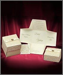 Svatební oznámení vzor 3673 krabička se semišovým víčkem