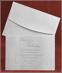 Perleťové svatební oznámení 5287 karta