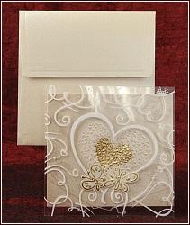 Svatební oznámení vzor 5305 se srdcem a motýlky