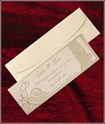 Zlatě perleťové svatební oznámení vzor 5308
