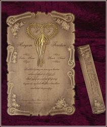 Svatební oznámení vzor 5316 starobylá listina