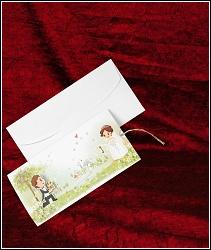 Veselé vysunovací svatební oznámení vzor 5322
