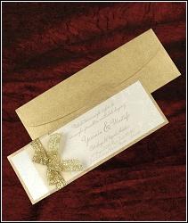 Zlaté svatební oznámení vzor 5332
