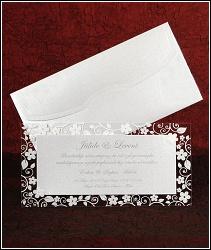 Třpytivé svatební oznámení vzor 5338