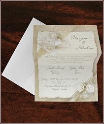 Svatební oznámení vzor 5343 s bílými růžemi