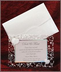 Svatební oznámení vzor 5347 s průhledným rámečkem