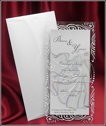Svatební oznámení vzor 5353 v průhledné fólii