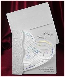 Svatební oznámení vzor 5357 s velkým srdcem