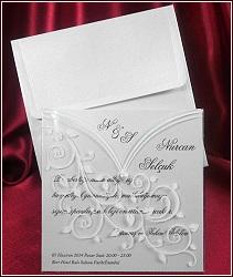 Svatební oznámení vzor 5359 v průhledné blůzce