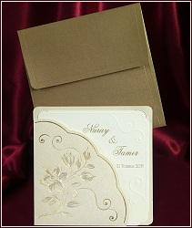 Svatební oznámení vzor 5371 s květinovým motivem