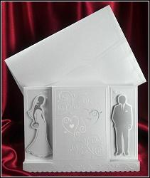 Svatební oznámení vzor 5373 s novomanželi