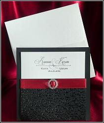 Svatební oznámení vzor 5380 s černou kapsou