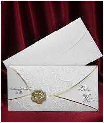 Svatební oznámení vzor 5381 s pečetí