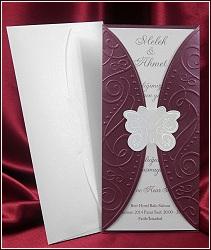 Svatební oznámení vzor 5387 s motýlkem
