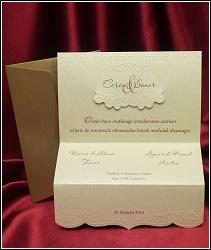 Zlatě perleťové svatební oznámení vzor 5389