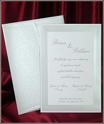 Jednoduché bílé svatební oznámení vzor 5396
