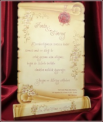 Svatební oznámení vzor 5398 listina s tubusem