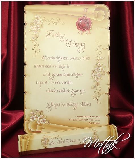 Svatební oznámení 5398 pergamen