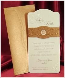Svatební oznámení vzor 5399 s páskou