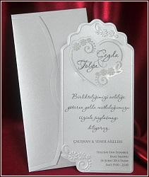 Svatební oznámení vzor 5403 perleťová karta