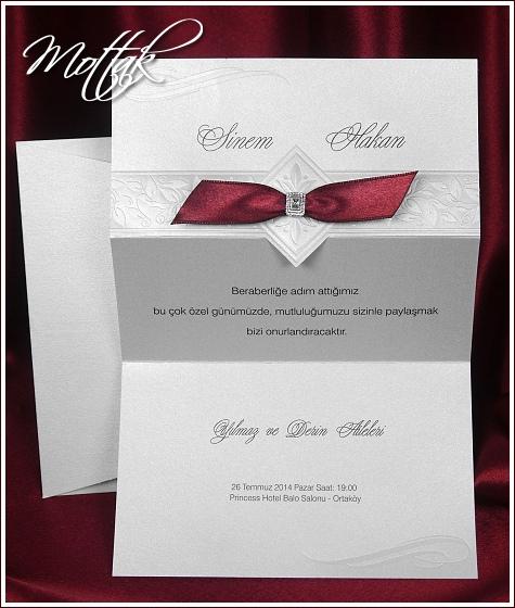Svatební oznámení 5409 se stužkou