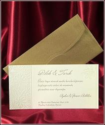 Žlutě krémové svatební oznámení vzor 5410