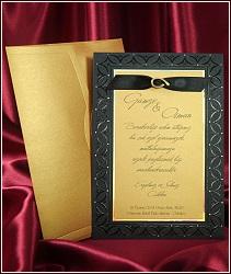 Černo zlaté luxusní svatební oznámení vzor 5413