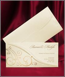 Dvoudílné svatební oznámení 5417 s vysouvací kartou