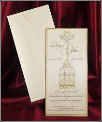 Zamilované svatební oznámení 5427 s ptačí klíckou.
