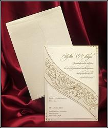 Dvoudílné svatební oznámení 5432 s ornamentálním motivem