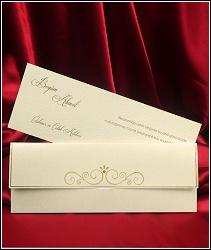 Dvoudílné svatební oznámení 5445 s jednoduchou výzdobou.
