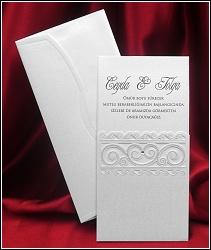 Vysouvací svatební oznámení 5456 s vlnkami