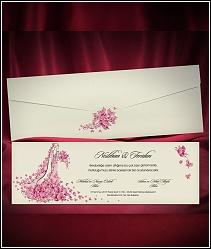 Svatební oznámení plné růžových motýlků 5475.